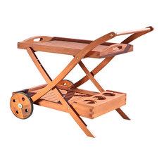 Malibu Outdoor Wooden Serving Cart