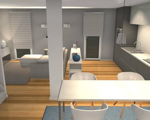 L 39 eleganza del nero progettazione soggiorno con cucina a vista - Soggiorno con cucina a vista ...