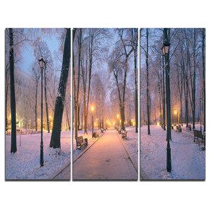 """Mariinsky Garden in Winter"" Photo Canvas Art Print, 3 Panels, 36""x28"""