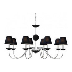 Vaxcel Lighting Manhattan Chrome Eight Light Chandelier With Shades