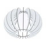 Stellato - round wood ceiling light in white