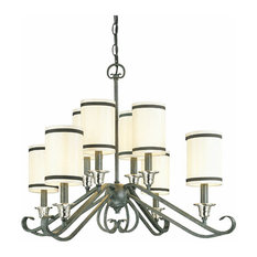 Thomas Lighting Natural Slate 8-Light Chandelier With Shade