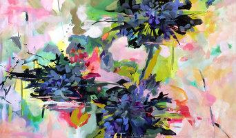 """""""Dark Stars""""  48"""" x 48""""   Acrylic on canvas"""