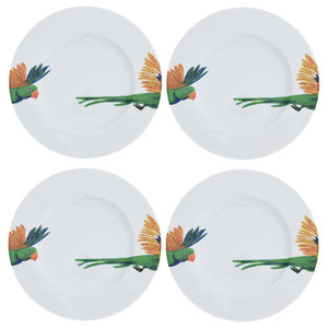 Lovebird Side Plates, Set of 4