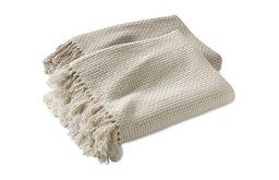 Chunky Basketweave Cotton Throw