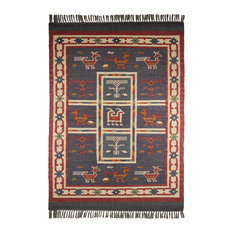 "St. Croix Hacienda Tribal Blue 1'9""x2'10"" Rug"