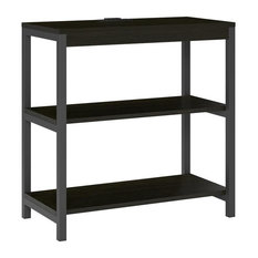 A Design Studio Jaxson 3-Shelf Bookcase, Rustic Medium Oak