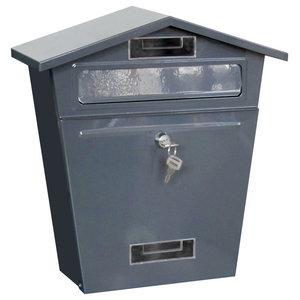 Home Vida Steel Post Box, Dark Grey
