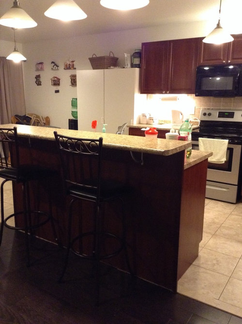 Need to paint kitchen cabinets. I came from a bright white ...