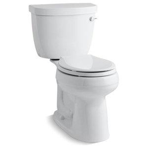 Kohler Cimarron 2-Piece Round-Front 1.28 GPF Toilet w/ Right-Hand Lever, White