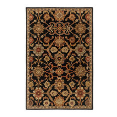 Traditional 9'x13' Black Area Rug