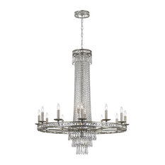Crystorama Lighting 5269-OS-CL-MWP Chandelier, Olde Silver