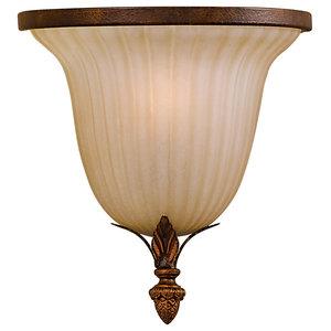 1-Light Wall Light, Aged Tortoise Shell