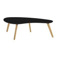 Omax Decor Tulip Coffee Table, Black Top