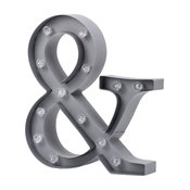 Grey Ampersand Shaped Novelty Table or Wall Light