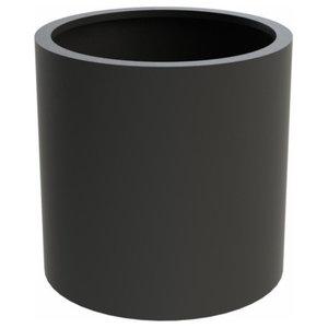 Adezz Aluminium Planter, Black Grey, Sydney Column, 80x60cm