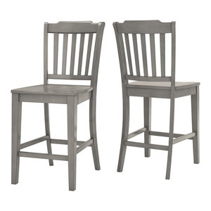 Pleasing Arbor Hill X Back Counter Chair Set Of 2 Transitional Unemploymentrelief Wooden Chair Designs For Living Room Unemploymentrelieforg