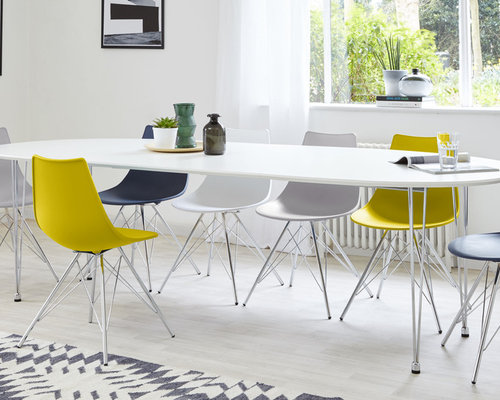 Ellie White Oval Extending Dining Table   Dining Tables