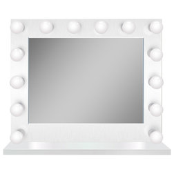 Contemporary Makeup Mirrors by Krugg Reflections