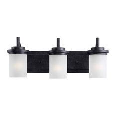Bathroom Vanity Lights In Black black bathroom vanity lights | houzz