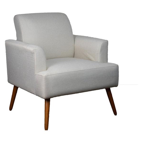 Contemporary Iris Armchair, Oatmeal