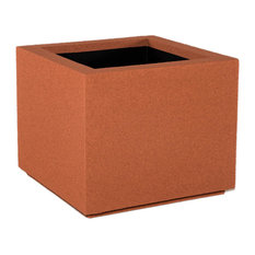 Milan Square Outdoor Planter, Red Clay