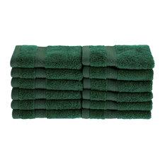650 GSM Rayon Face Towel Set, Hunter Green   Bath Towels