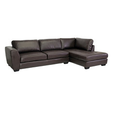 baxton studio baxton studio orland sectional sofa brown right sectional sofas