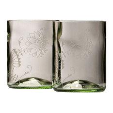 Qubus - Onion Drinking Glasses, Transparent, Set of 2 - Glasses