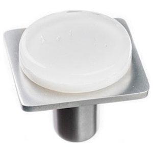Geometric Round Knob, Satin Nickel