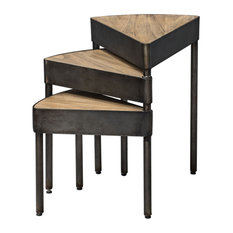 Akito Swivel Nesting Table (25432) by Uttermost