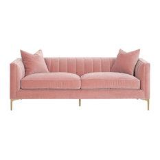 """Boho 84"""" Channel Sofa"""