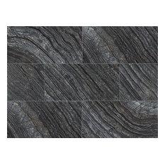 "Black Oak 12""x24"" Polished Marble"