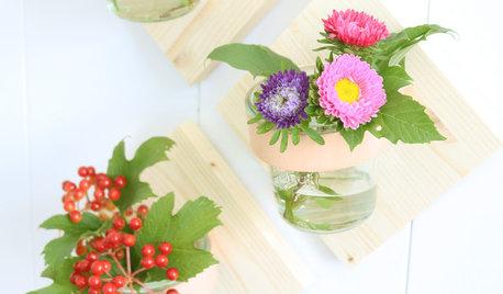 DIY: Stylische Wandhalterung für frische Blumen