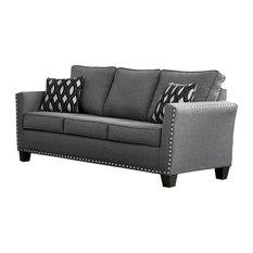 Furniture World   Carolina Chenille Sofa, Gray   Sofas