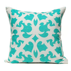 Open Trellis Pillow, Aqua