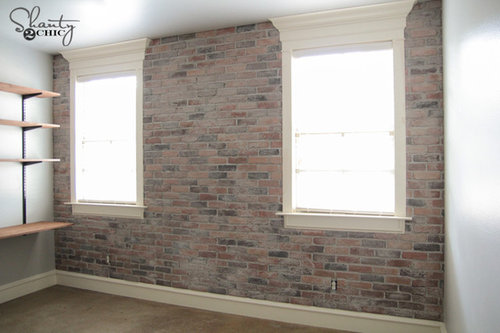 Check Out Shanty2Chicu0027s DIY Thin Brick Wall! Tutorial Is In The Link! This  Is A Project That Anyone Can Do! Click Here To See The Entire Installation  ...