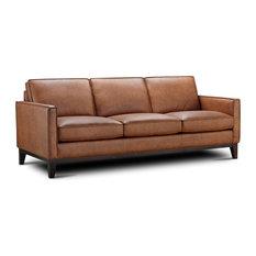 Pimlico 100% Top Grain Leather Sofa Brown