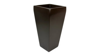 "Windsor Tall Square Planter, Brown, 7""x7""x14"""