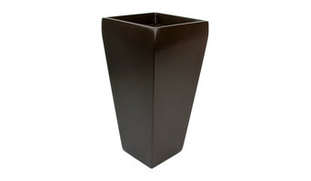 """Windsor Tall Square Planter, Brown, 7""""x7""""x14"""""""