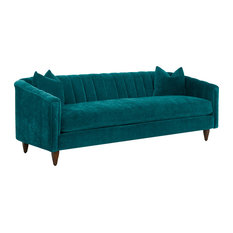 Klaussner Furniture Venice Sofa, Cerulean