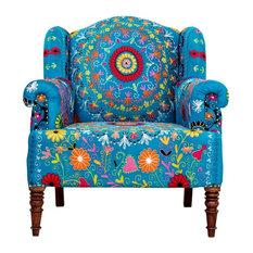 Crazy Daisy Embroidered Armchair