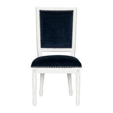 Buchanan French Brasserie Rectangular Side Chairs Set Of 2 Navy Velvet