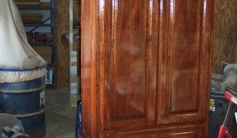 Mahogany bath cabinets