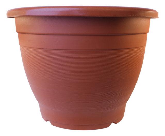 Superieur Aleko Pp450Tc Terra Cotta Thermoformed Plastic Garden Pot, Large