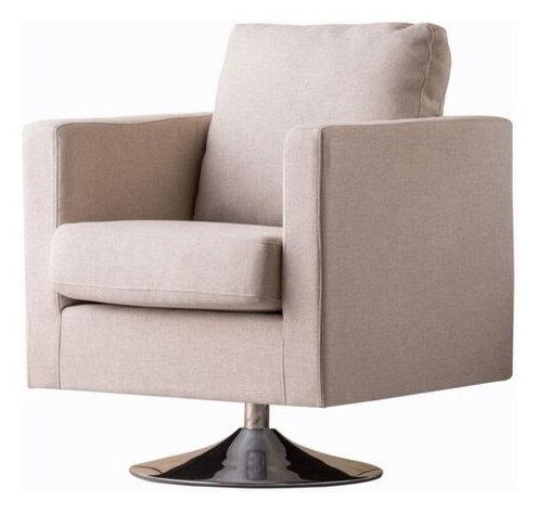 Hahn Mid Century Modern Swivel Armchair Midcentury