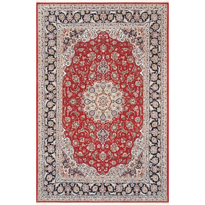 Pasargad Isfahan Collection Hand-Knotted Silk & Wool Area Rug, 5'x7'8""