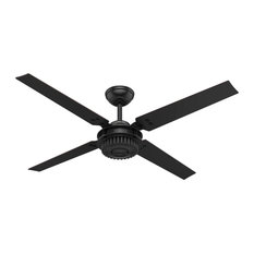 50 most popular industrial ceiling fans for 2018 houzz hunter fan company hunter 54 chronicle matte black ceiling fan with wall control aloadofball Images