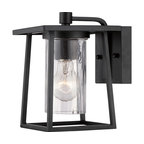 Lodge 1 Light Outdoor Wall Light in Mystic Black