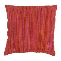 Blazing Needles Striped Throw Pillow, Red